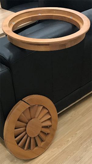 runde Holzjalousie